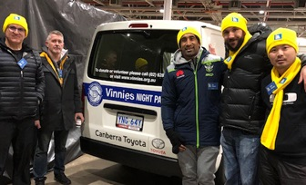 Canberra Toyota raise $43,530 for Vinnies 2019 CEO Sleepout