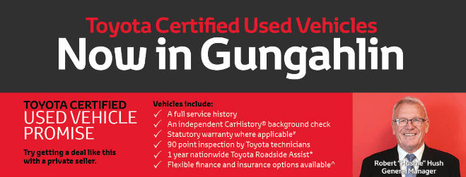 Toyota Certified Used Vehicles in Gungahlin